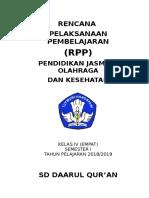 Rpp Mapel Pjok Kelas 4