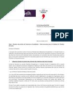 Fidh_LDH_Lettre au Président de La République de France_4 octobre 2018