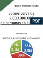 estatísticas missionarias