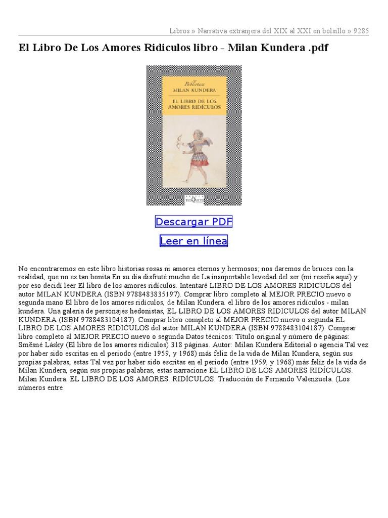 la identidad milan kundera pdf descargar gratis