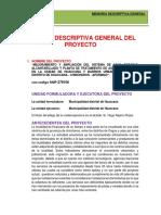 Memoria Descriptiva Huaccana