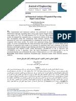 Ahmed Ibrahim Razooqi -Experimental and Numerical Analysis of Expanded Pipe Using