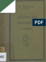 Origenes del Conocimiento. El Hambre. prólogo Miguel Unamuno