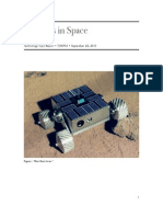 Robotics in Space Tech Report