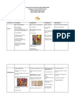 visual art curriculum map 2018-2019