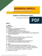 Calidad en La Administración Pública (Universidad Abierta)