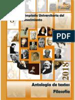 Antología Olimpiada Filosofia 2018