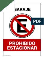 Prohibido Estacionar Garaje