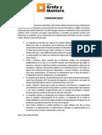 Comunicado GrañayMontero