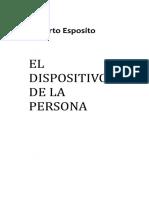 Esposito Roberto - El Dispositivo de La Persona