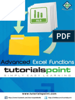 Advanced Excel Functions Tutorial
