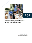 21974814 Leadership Case Study on Saurav Ganguly