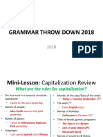 grammar throw down 2018