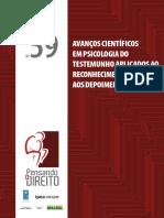Avanços científicos em psicologia do testemunho aplicada ao reconhecimento pessoa e depoimentos forenses