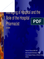 Role of the Hospital Pharmacist2!16!06 Slides