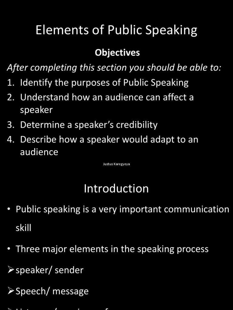 Copy of Elements of Public Speaking | Public Speaking ...