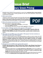 Details about green pricing programs