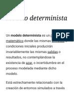 Modelo Determinista - Wikipedia, La Enciclopedia Libre