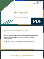 reading night presentation