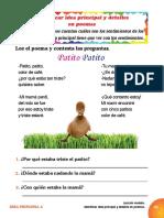 1.Identificación de La Idea Principal_identificar Idea Principal y Detalles en Poemas