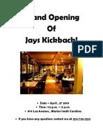 grand opening jay kickbaxk
