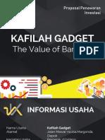 Proposal Investasi Kafilah Gadget