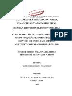 Financiamiento Micro y Pequenas Empresas Palacios Su Miriam Lucia