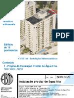 Aula 4 - CCET166 -InstHidrossanitarias - S2018-0920 - Cálculo de Reservatórios