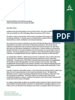 Oregon Conference Letter to the GC Regarding Tithe