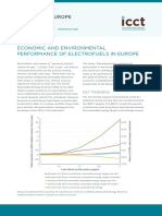 Economic and environmental performance of electrofuels in Europe