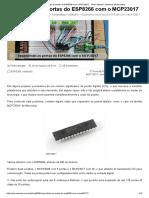 Expandindo as Portas Do ESP8266 Com o MCP23017 - Pedro Minatel - Sistemas Embarcados