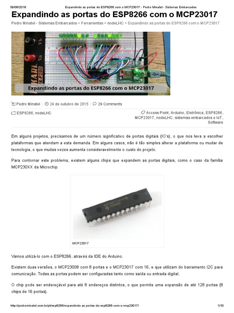 Expandindo as Portas Do ESP8266 Com o MCP23017 - Pedro