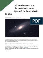 Astronomii Au Observat Un Fenomen În Premieră