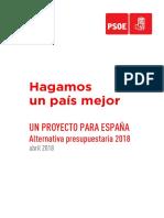 Presupuestos Alternativos Del PSOE 2018