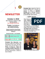 Moraga Rotary Newsletter Oct 2 2018