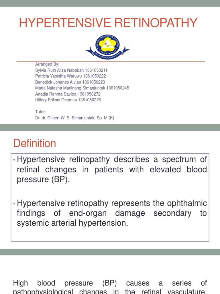 Hypertensive Retinopathypptx Hypertension Angiology Silver Wiring Retina