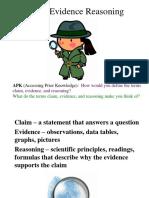 Claim Evidence Reasoning PPT