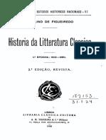 História Da Literatura Portuguesa Clássica