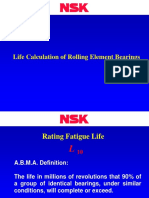 Life Calculation of Rolling Element Bearings