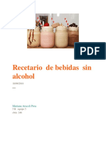 recetario bebidas sin alcohol