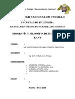 Informe Inmanuel Kant(M.I.C)