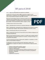 Nuevas NIIF Para El 2018 Trabajo