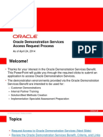 Oracle Demo Services Request Process for Partners - April 24 2014
