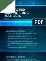 Multistoried Building Using Etab -2016