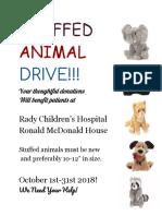 stuffed animal drive flyer- elliott