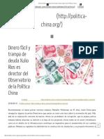 Dinero Fácil y Trampa de Deuda _ Observatorio de Política China