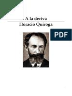 A La Deriva Horacio Quiroga
