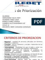 Criterios de Priorizacion