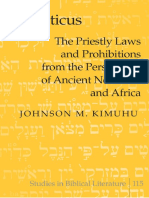 [Johnson M. Kimuhu] Leviticus the Priestly Laws