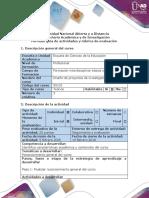 Reconocimiento General  Diseño de Proyectos de Investigacion